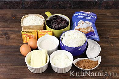Пирог с творогом и черникой рецепт
