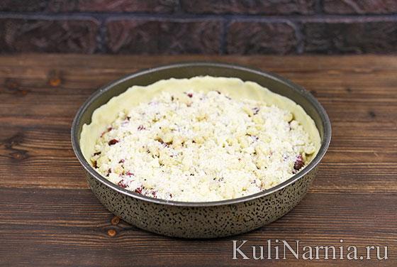 Как готовить песочный пирог с вишней