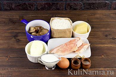 Пирог с курицей и грибами рецепт