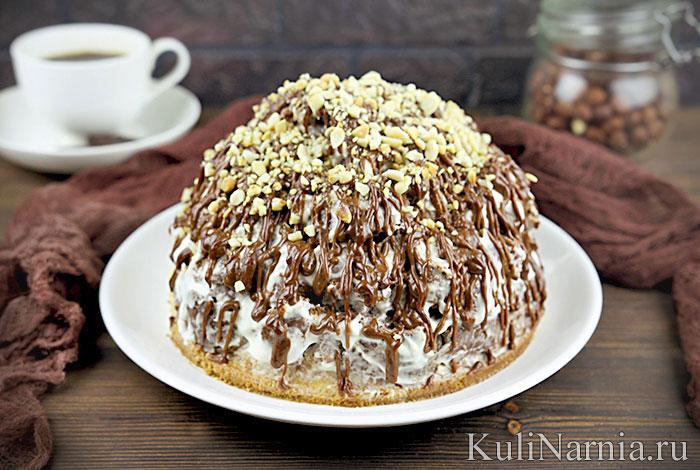 Торт кучерявый мальчик рецепт со сметаной