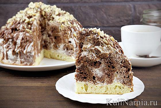 Торт со сметаной Графские развалины