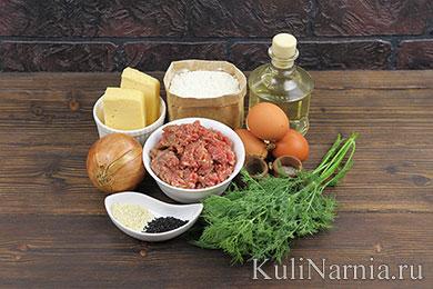 Пирог с мясом в духовке рецепт