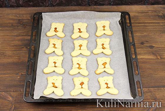 Рецепт печенья Мишки с миндалем