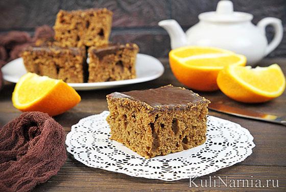 Пирожное шоколадное с апельсином