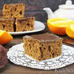 Шоколадное пирожное с апельсином