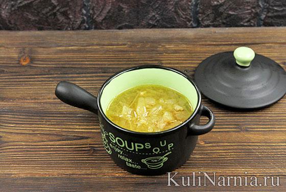 Суп луковый