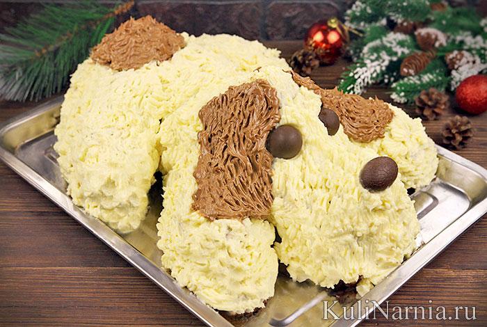 Торт Собака на Новый 2018 год