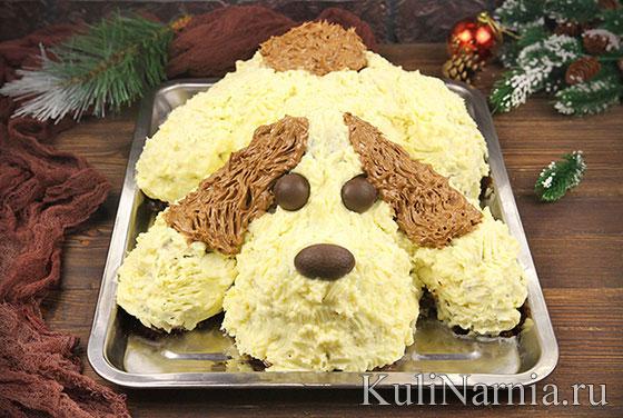 Торт Собака на Новый год