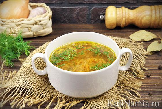 Рыбный суп из консервов сайры
