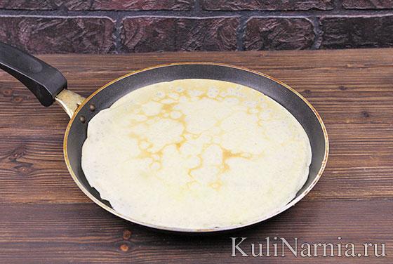 Блинчики с сыром пошагово