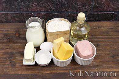Блинчики с ветчиной и сыром рецепт
