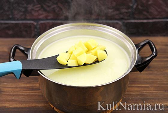 Как готовить сырный суп с креветками