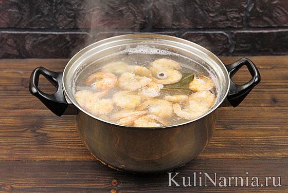 Как приготовить сырный суп с креветками