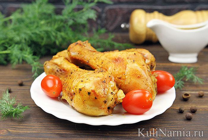Курица в кефире в духовке