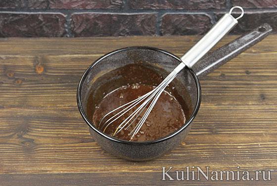 Пирожное Ночка с шоколадной глазурью