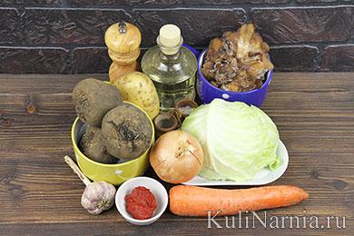 Постный борщ с грибами рецепт