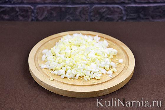 Рецепт салата с ветчиной и яйцами