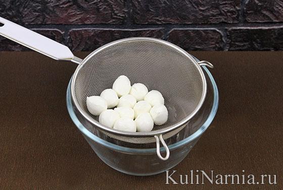 Сырные шарики с моцареллой с фото