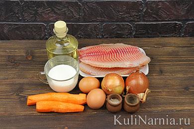 Рыба с морковью и луком рецепт