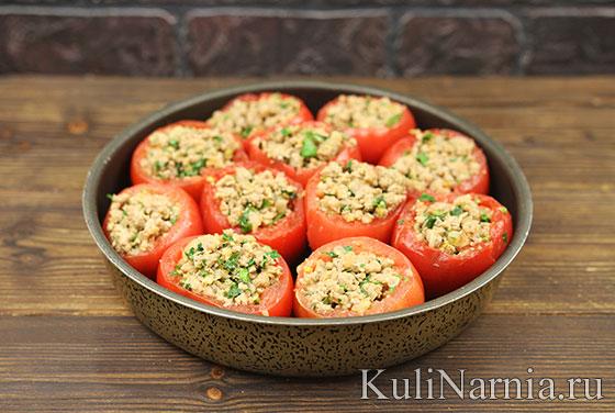 Фаршированные помидоры с мясным фаршем