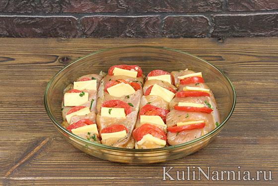 Грудка с помидорами и сыром с фото