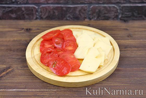 Грудка с помидорами рецепт