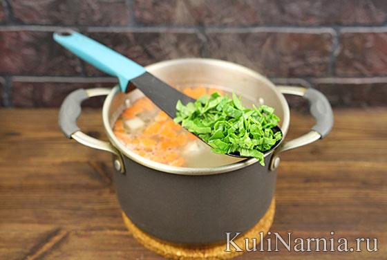 Как готовить суп со шпинатом