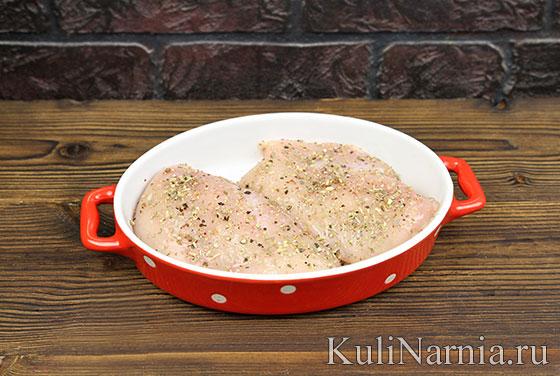 Рецепт салата с курицей и помидорами