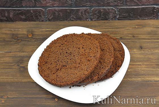 Рецепт шоколадно-бананового торта