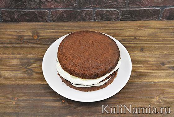 Шоколадно-банановый торт пошагово