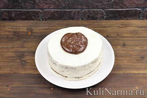 Шоколадно-банановый торт с фото
