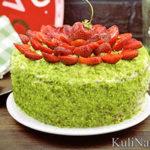 Шпинатный торт «Изумрудный бархат»