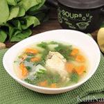 Суп со шпинатом и курицей