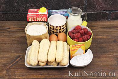 Малиновый торт рецепт