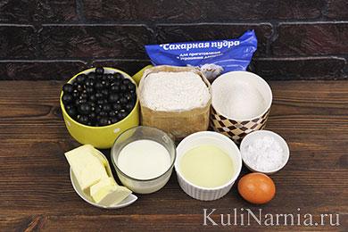 Пирог с черной смородиной рецепт