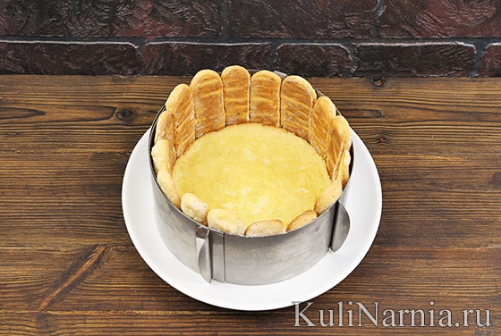 Торт с печеньем савоярди рецепт с фото