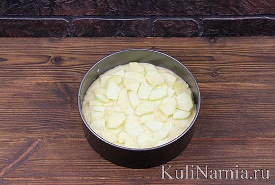 Пирог на кефире с яблоками с фото