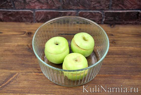 Запеченные яблоки с медом в духовке