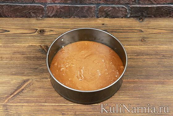 Пирог с персиками с фото