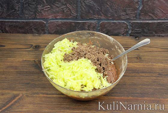 Шоколадный пирог из кабачков пошагово