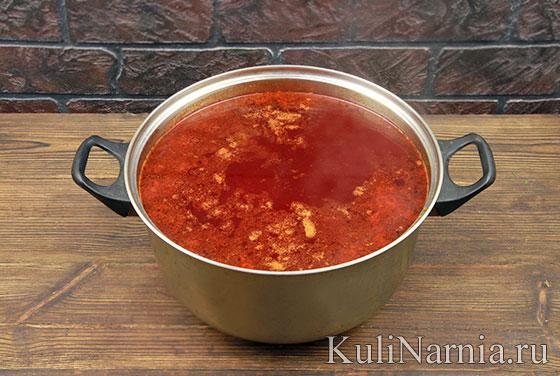 Как готовить горячий свекольник