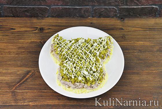 Салат в виде свиньи рецепт