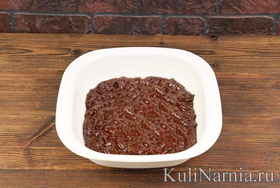 Тыквенно-шоколадный брауни