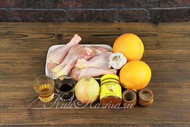 Курица с апельсинами рецепт