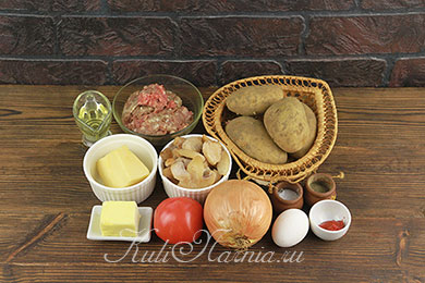 Картофельные гнезда с фаршем рецепт