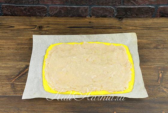 Сырный рулет с курицей рецепт
