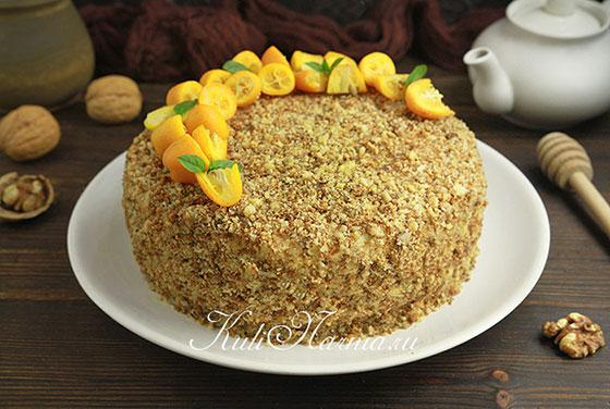 Бисквитный торт с медом рецепт