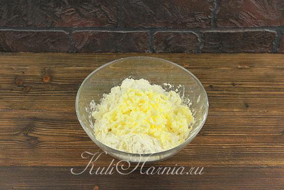 Масляная стружка для теста для пирога