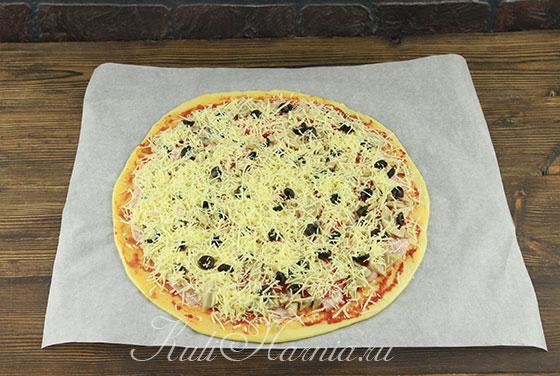 Пицца на кефире в духовке