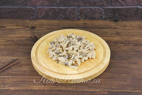Салат с ветчиной и грибами рецепт с фото